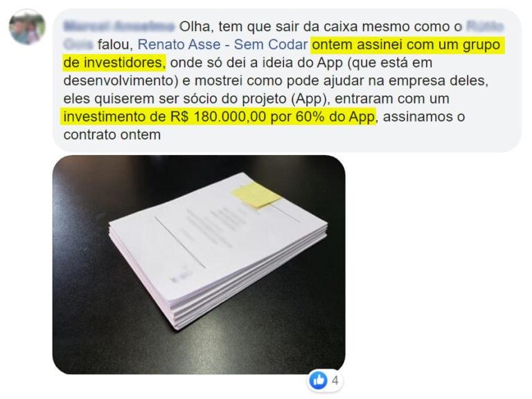Depoimento Comunidade Sem Codar - Contrato 180k